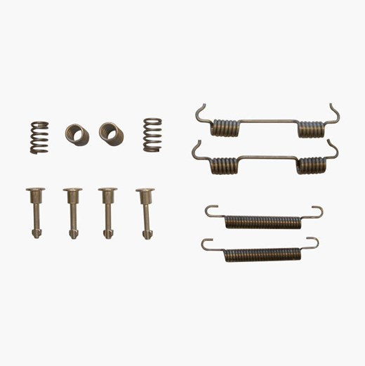 Handbrake shoe mounting sets
